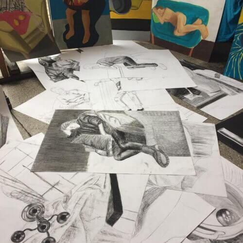 Egzamin wstępny na Wydział Grafiki Akademii Sztuk Pięknych wWarszawie