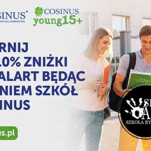 10% zniżki dla uczniów szkół Cosinus
